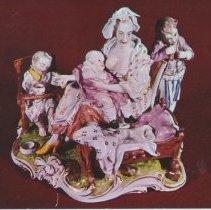 Image of Frankenthal porcelain group of mother and children