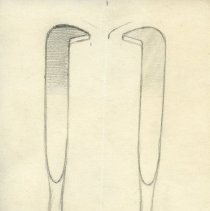 Image of Tools - Graphite and ink renderings of surgical tools. 3 pieces.