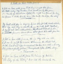 "Image of ""I Fell in Love with Jesus"" manuscript"