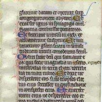 Image of English Psalter Leaf, 1300