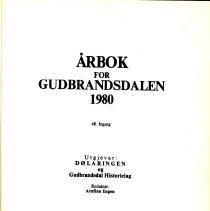 Image of Årbok for Gudbrandsdalen 1980 - Engen, Arnfinn
