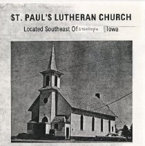 Image of St. Paul's Lutheran Church, Stanhope, Hamilton County, Iowa, Centennial booklet , 1876-1976 -