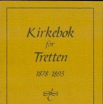 Image of Kirkebok for Tretten, 1878 - 1893 - Øyer og Tretten Historielag
