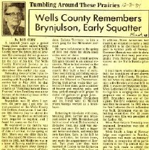 Image of Wells County remembers Brynjulson, early squatter. - Cory, Bob