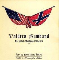 Image of Valdres Samband, Fem og femti-Aars Stevne, 1954 -