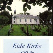 Image of Eide Kirke - 120 år - 22. august 1871 - 22. august 1991 -