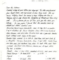 "Image of Hamran family : ""Trade Wind"" letter - Halland, Aslaug."