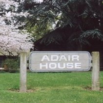 Image of Adair House sign 2003/3/31