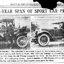 Image of Sixteen-year span of sport car progress