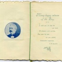 Image of New Years Greeting Card, inside