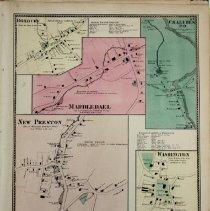 Image of Beers Atlas - Villages of New Preston, Marbledale, Washington Green.