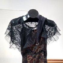 Image of 1920s Marilu Munford Black Lace Dress - Dress