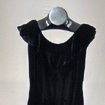 Image of 1920s Marilu Munford Black Velvet Dress - Dress