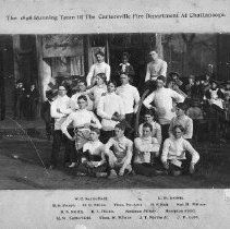 Image of 1898 Cartersville Fire Dept Running Team - Print, Photographic