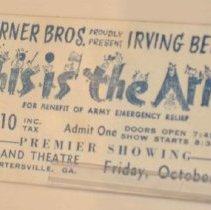 Image of Army Show Ticket
