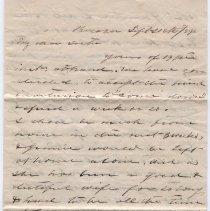 Image of 1859 Letter - Letter