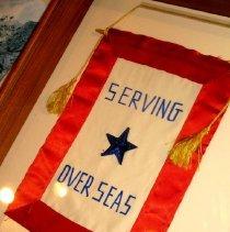 Image of WWII Serving Overseas Window Banner