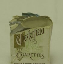 Image of Chesterfield cigarette package from cigarette case