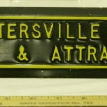 Image of 1920s Advertising Auto Tag - Plate, License