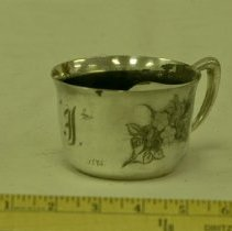 Image of 1895 Silver Plated Mustache Cup - Cup, Mustache