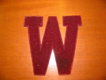 "Image of ""W"" Patch for Letter Jacket - n.d."