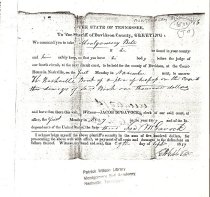Image of Legal Summons for Montgomery Bell