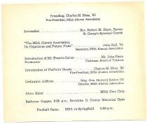 Image of Program for Ball Hall Dedication - page 2