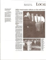 Image of Nashville Banner Articles about Dr. Paschall - p. 1