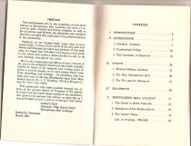 Image of Preface and Contents of Rule History Booklet