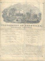 Image of University of Nashville Catalog - page 1