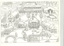 Image of James Womack Drawing of Campus Plan