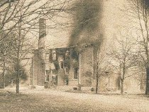Image of Picture of Main Building Burning