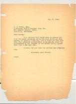 Image of Malone Correspondences 1934 - page 43