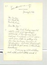 Image of Malone Correspondences 1933 - page 1