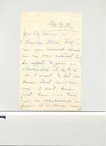 Image of Malone Correspondences 1935 - page 1