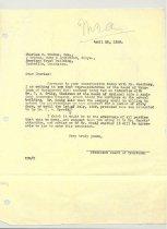 Image of Malone Correspondences 1939 - page 1
