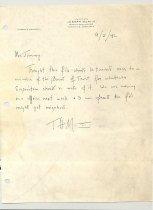 Image of Malone Correspondences 1942 - page 1