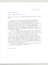 Image of Wills Memo about Ewing Letter