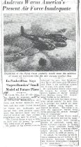 Image of Andrews WW2 Air Force Article