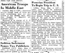 Image of Andrews May 3 1942 newspaper