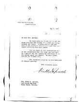 Image of Andrews May 6 1943 FDR correspondence