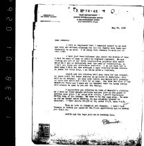 Image of Andrews May 28 1943 correspondence