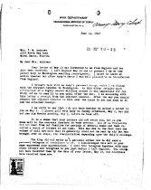 Image of Andrews June 14 1943 correspondence - 1