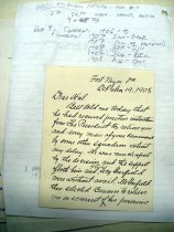 Image of Andrews Oct 19 1908 correspondence - 1