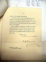 Image of Andrews Nov 20 1908 correspondence - 2