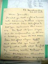 Image of Andrews Feb 6 1909 correspondence - 1