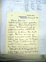 Image of Andrews May 26 1909 correspondence - 1