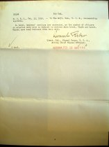 Image of Andrews Feb 12 1914 correspondence