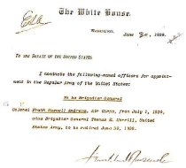 Image of FDR Nomination of Andrews 1939