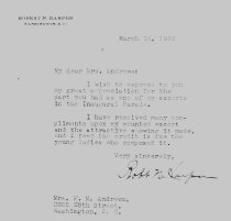 Image of Andrews Mar 18 1933 correspondence